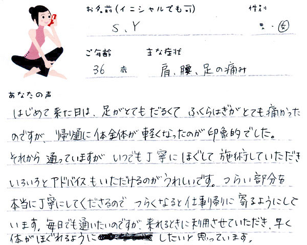S.Yさん 36歳 女性