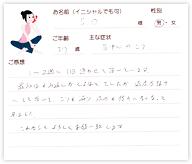 S.Oさん 37歳 男性