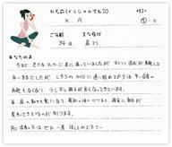 K.Aさん 34歳 男性